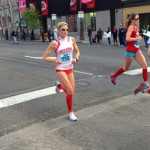 Cecily Tynan running the Broad Street Run | Photo via Facebook