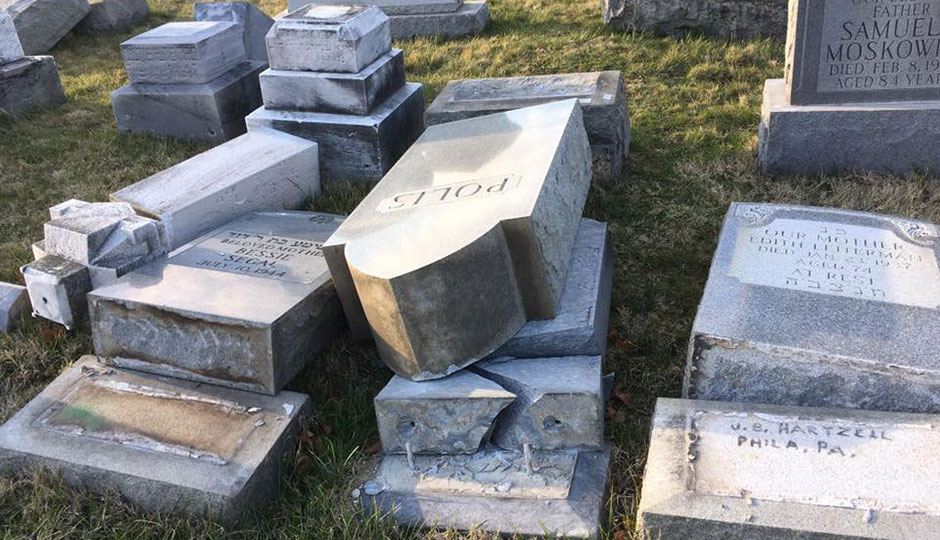 Headstones overturned at local Jewish cemetery