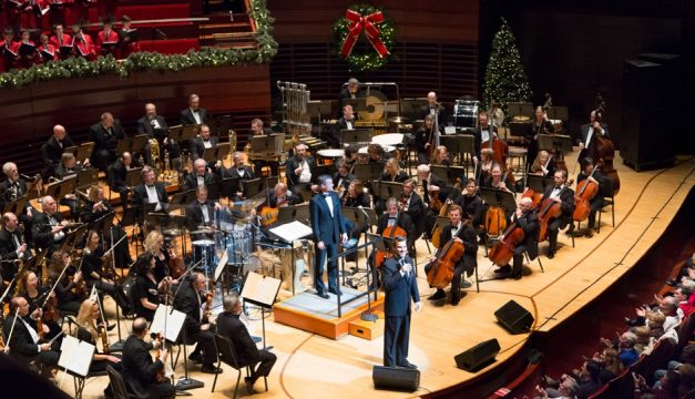 Hugh Panaro with the Philly Pops orchestra.