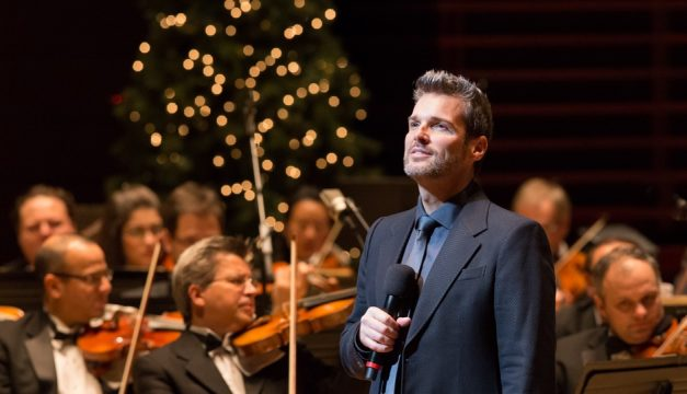 Hugh Panaro sings with the Philly Pops during the orchestra's 2014 Christmas Spectacular.