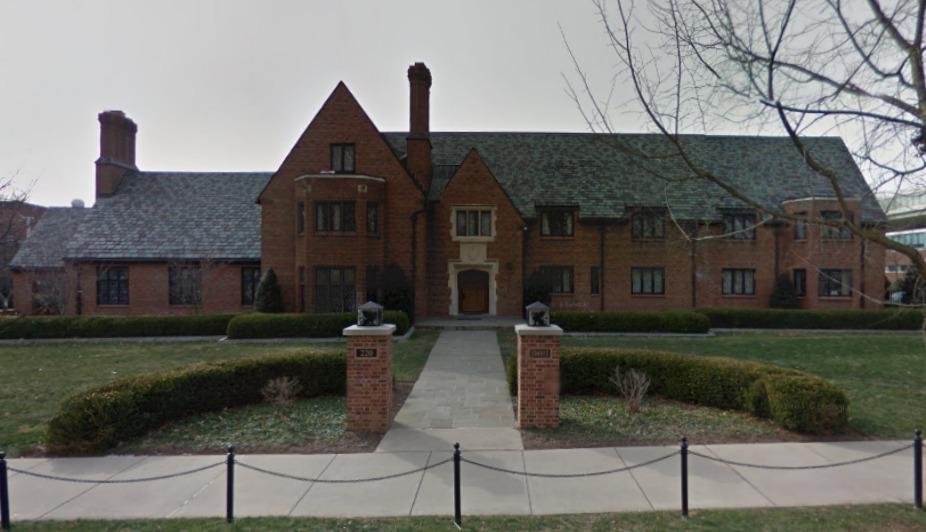 Penn State's Beta Theta Pi fraternity house, via Google Maps