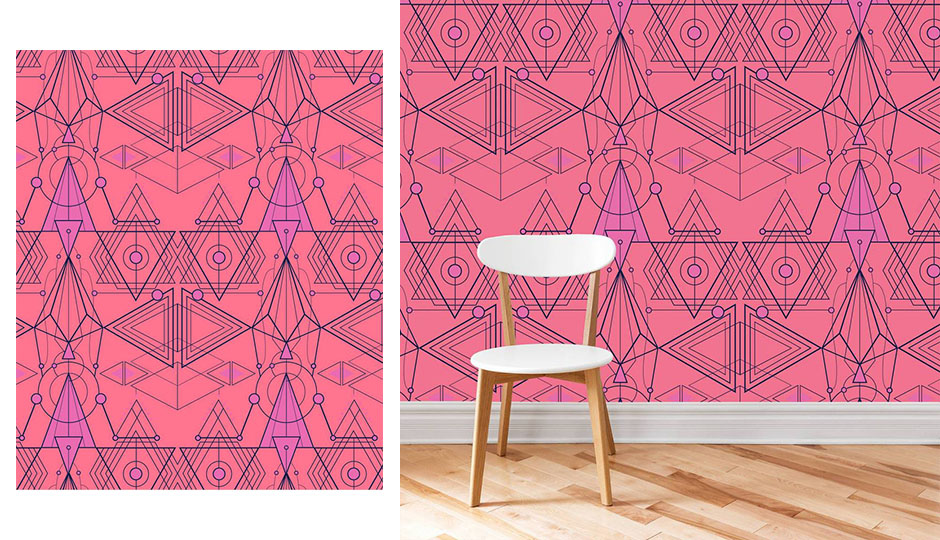pink geo wallpaper