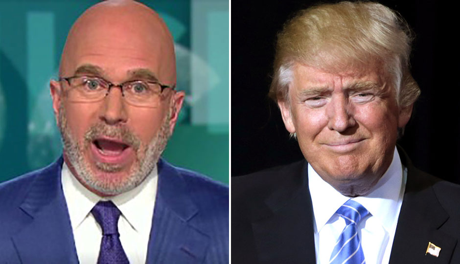 Michael Smerconish split photo with Donald Trump