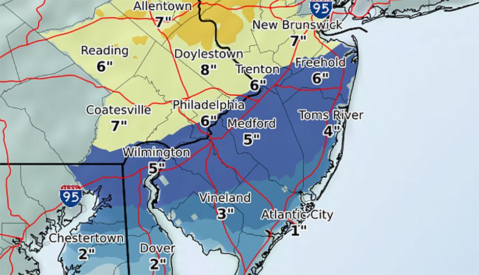 Snowstorm totals