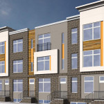 Rendering of Twenty on Poplar, the site for which is now being cleared. | Renderings: JKRP Architects; photos via KREIT