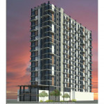 The proposed apartment tower at 4125 Chestnut St. | Rendering: KCA Design Associates