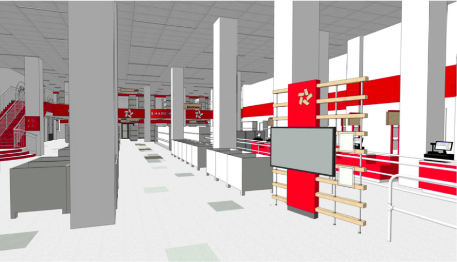 Rendering of A.C. Moore store. Image courtesy of A.C. Moore.