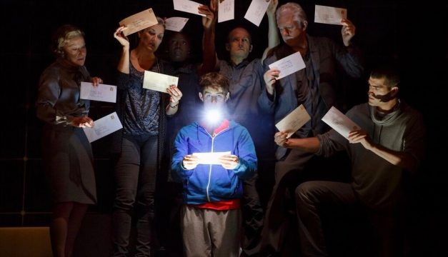 Adam Langdon and the Cast of Curious Incident of the Dog at the Kimmel Center. (Photo by Joan Marcus)
