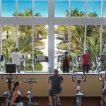 Workouts with a view. Photo via Carillon Miami Wellness Resort