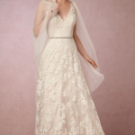 Watters' Blair gown, which was originally $1,600 and is now $400 at BHLDN.com.