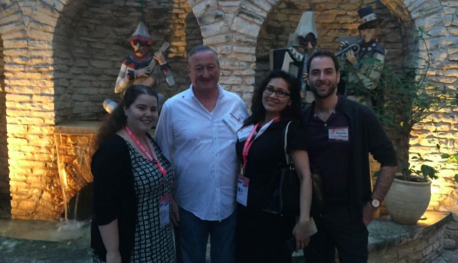 L to R: Lauren Cox, Department of Commerce communications director; Mayor Jim Kenney; Archna Sahay, Philadelphia's director of entrepreneurial investment; and at SXSW 2017.