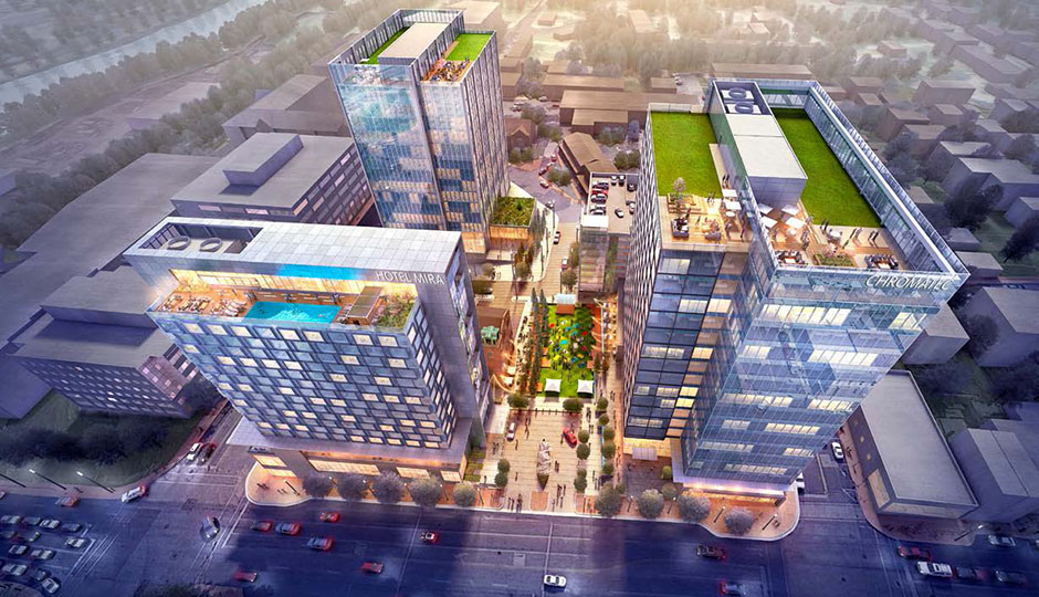 Rendering of SORA West, a proposed mixed-use development | Courtesy Gensler