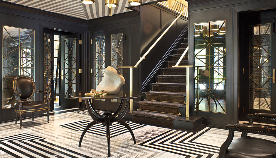 The Inspiration: A dramatic geometric space by famed designer Kelly Wearstler