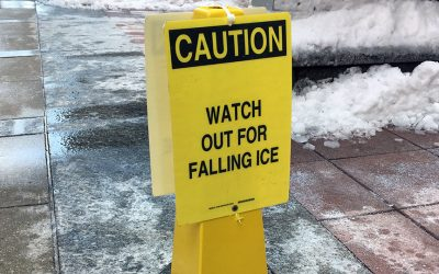 """""""Watch Out for Falling Ice"""" sign"""
