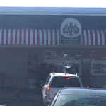 The two girls were approaching this Rita's Water Ice in Philadelphia on Monday.