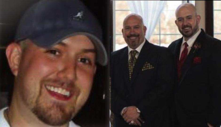 Left: Anthony Lucidonio III. Right: Tony Luke and his son at a family wedding. (Photos courtesy Tony Luke)
