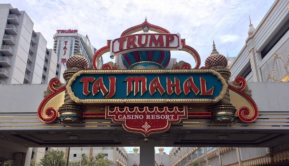 The Trump Taj Mahal entrance
