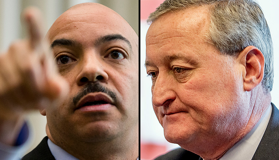 Seth Williams (Matt Rourke/AP) and Jim Kenney (Jeff Fusco).