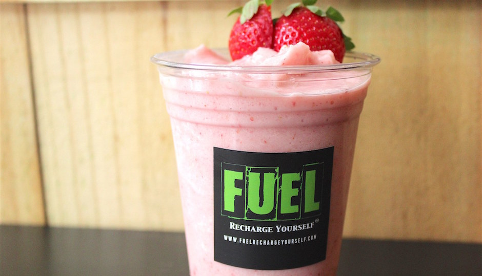 Fuel's new Strawberry Cream Smoothie | Photo courtesy of Fuel's Facebook page