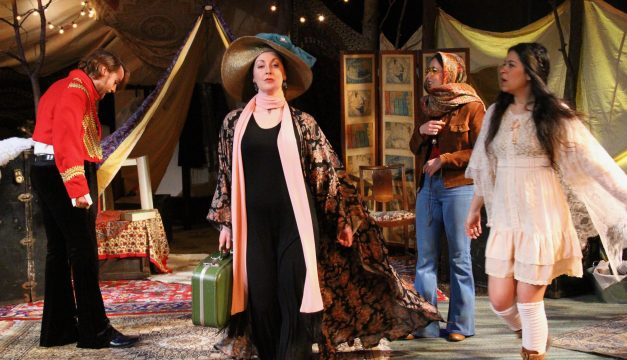 Andrew Carroll, Colleen Corcoran, Lee Minora, and Maria Konstantinidis in Anna at EgoPo. (Photo by Dave Sarrafian)