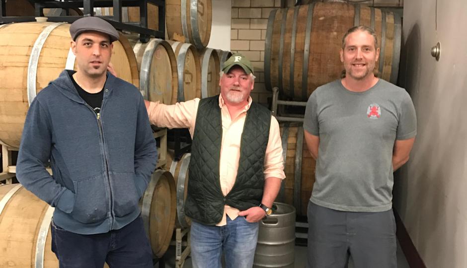 Bullfrog brewer Nate Saar, Nectar chef Patrick Feury, Bullfrog owner Steve Koch