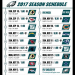 Eagles 2017 schedule