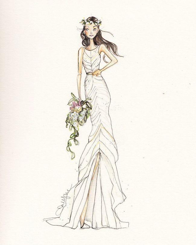 Illustration by Dallas Shaw for the St. Regis Kauai.