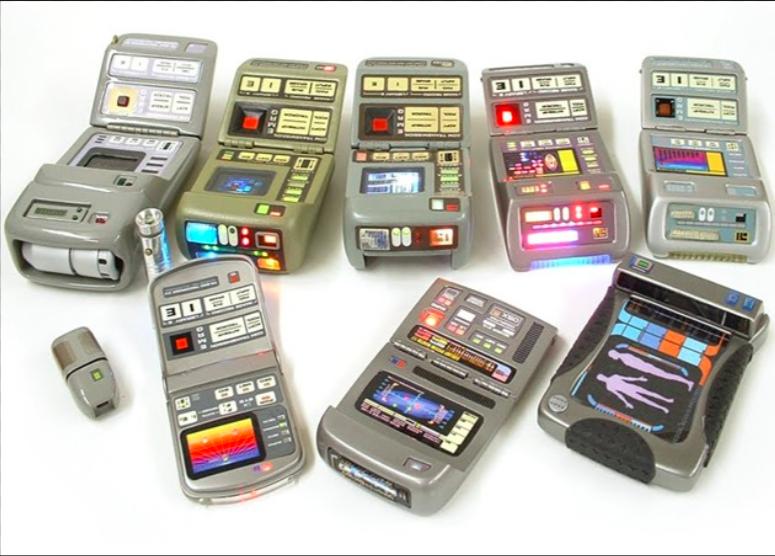 Toy Star Trek Tricorder prototypes. Image via Pinterest.