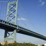 A view of the Ben Franklin Bridge, which the race course passes |  fullvalue/iStock.com