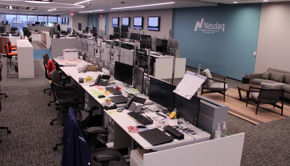 Nasdaq PHLX trading floor.