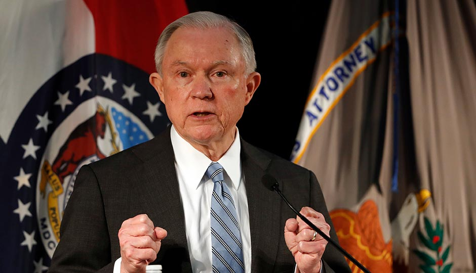 Attorney General Jeff Sessions. Photo by Jeff Roberson/AP