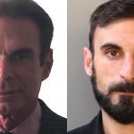 Left: Criminal defense attorney Chuck Peruto in a publicity photo. Right: N.A. Poe aka Richard Tamaccio in his Philadelphia Police Department mugshot.