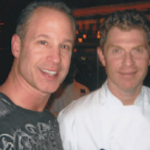 Philly chef Steve Rosen (left), pictured with Bobby Flay. (Photo via Casino Classic Catering)