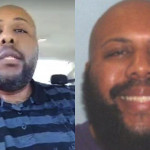 "Left: Accused ""Facebook killer"" Steve Stephens in an image from this weekend. Right: A photo of Stephens released by the Cleveland Police Department."