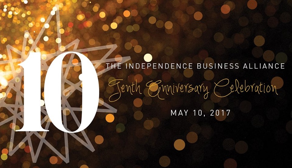 IBA's 10th Anniversary Celebration is Wednesday, May 10th.