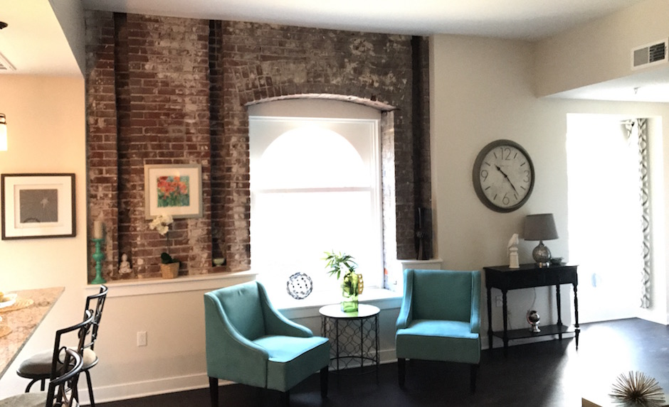 The Living Room Of Second Floor Model Apartment
