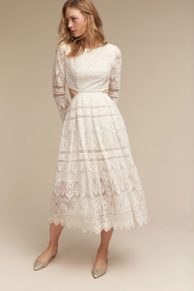 The Fallon dress, originally $700 and now on sale for $490 at BHLDN.com.