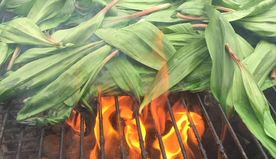 Ramps on the grill at Martha/Facebook