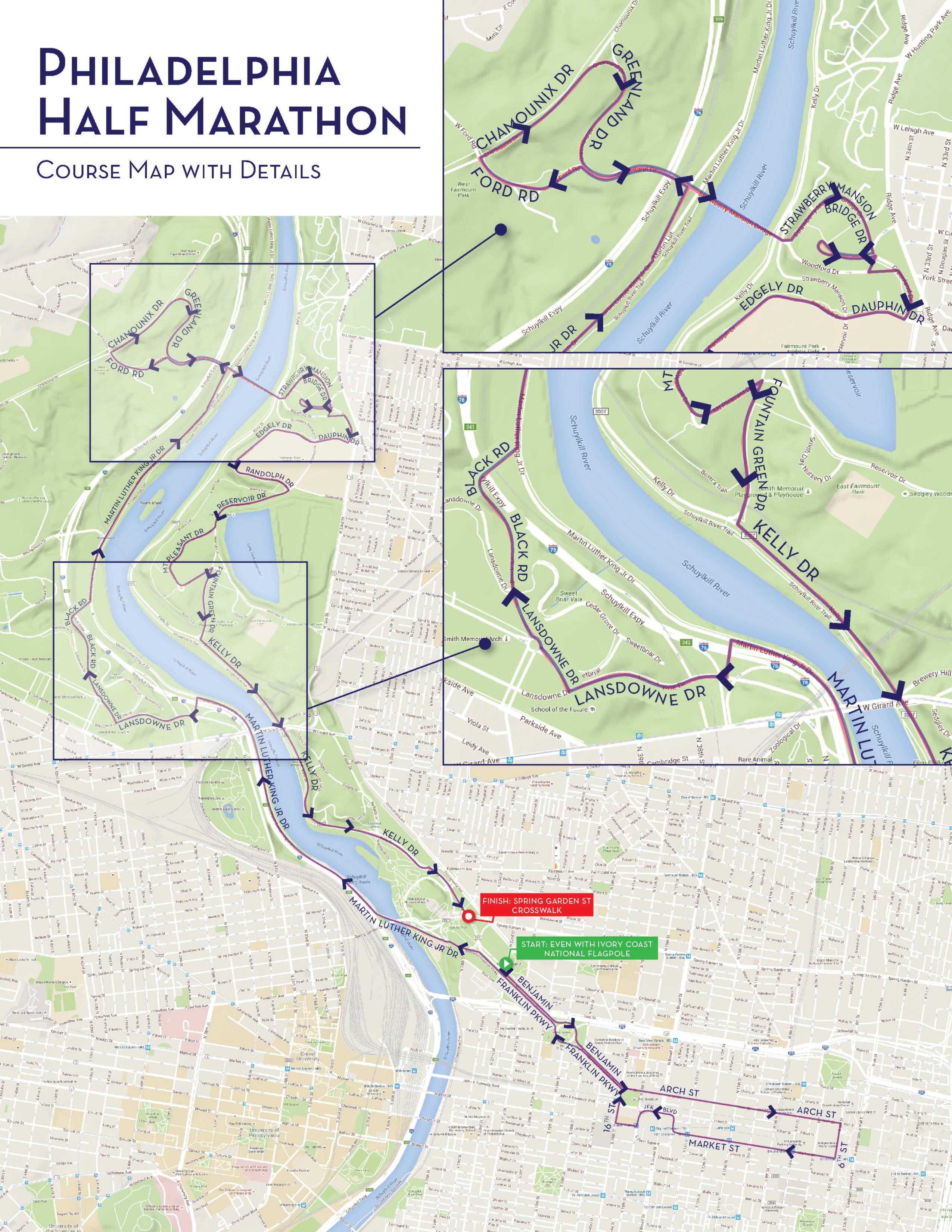 What The Philadelphia Marathon39s Half Marathon Course