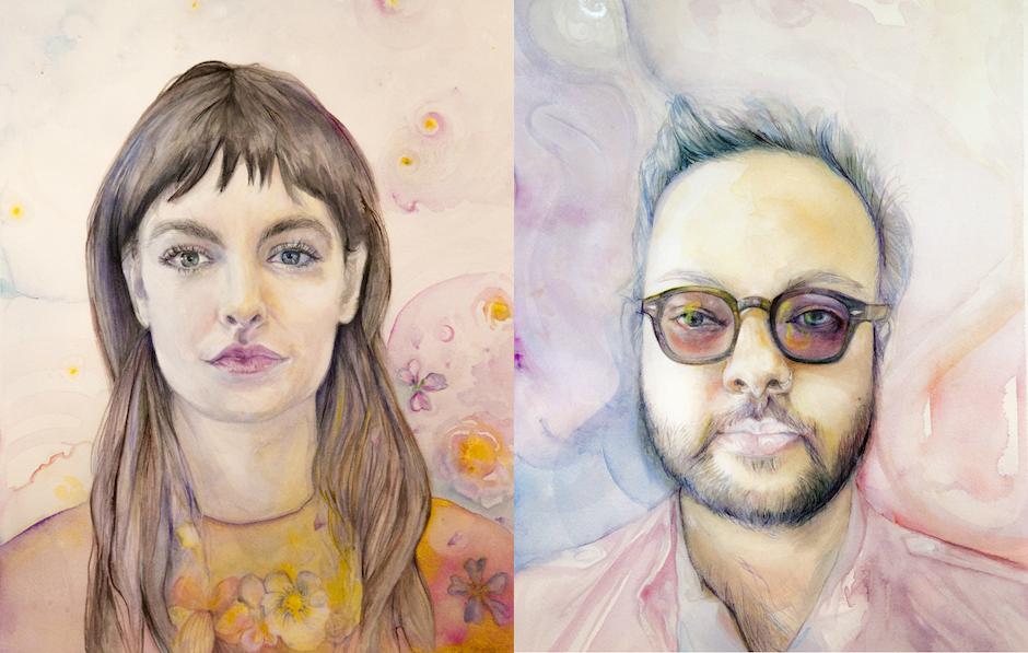 Anna Mraz's portraits of Erin McCurdie and Raj Haldar (aka Lushlife). (Anna Mraz)
