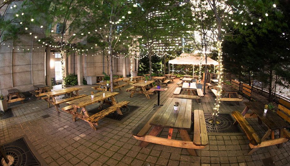 uptown beer garden opens for a third season. Black Bedroom Furniture Sets. Home Design Ideas