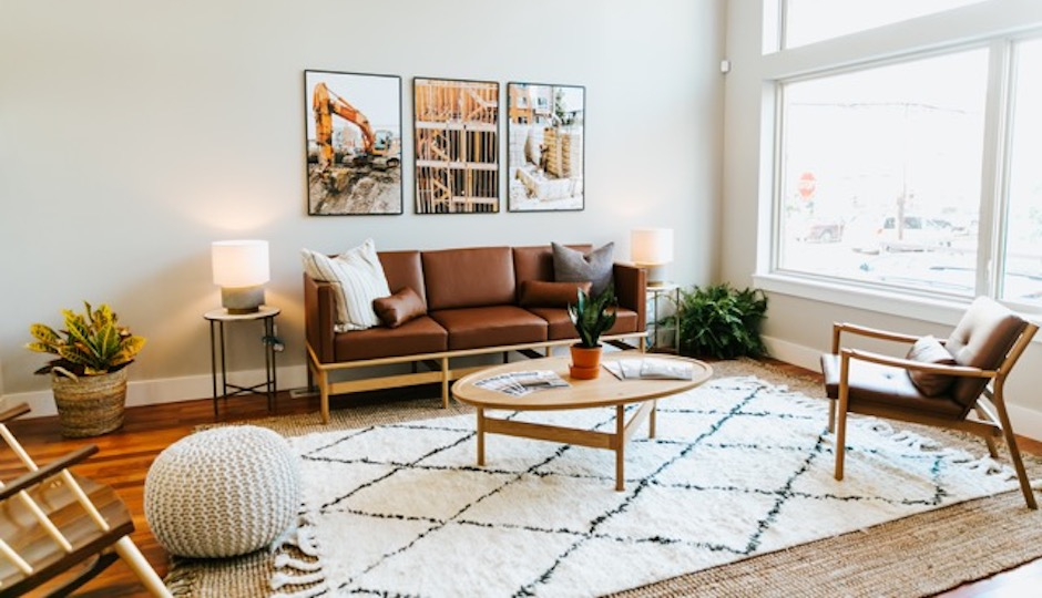 This Living Room, Currently Installed At OCF Realtyu0027s Brown Street Court  Model Home, Features Items From Thos. Moseru0027s Hartford Collection Along  With A New ...
