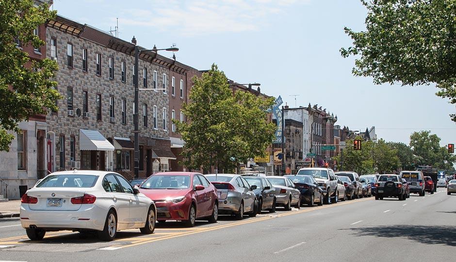 broad street median parking, broad street parking