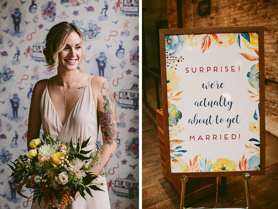 How one philly couple pulled off a surprise wedding at a coffee how one philly couple pulled off a surprise wedding at a coffee shop junglespirit Gallery