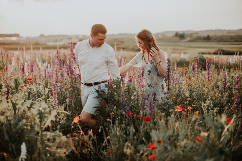 This Gorgeous Flower Field is East PA's Best-Kept Secret for Engagement Photos
