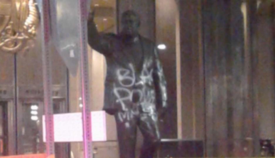 rizzo statue, vandal