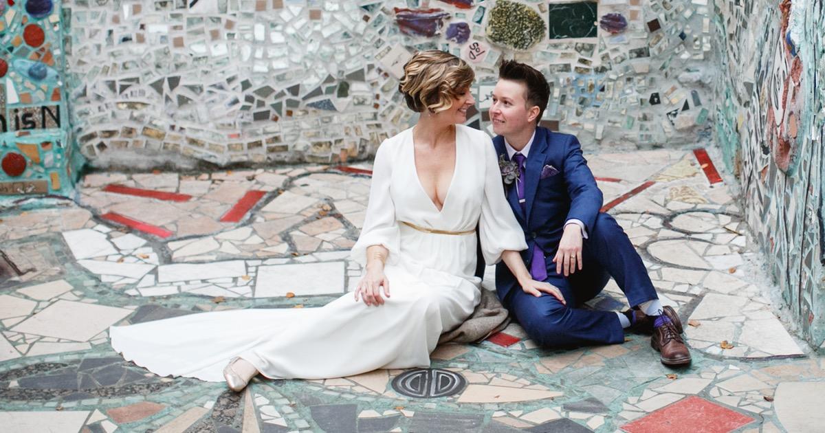 A Philadelphia Magic Gardens Wedding Catered By A Taco