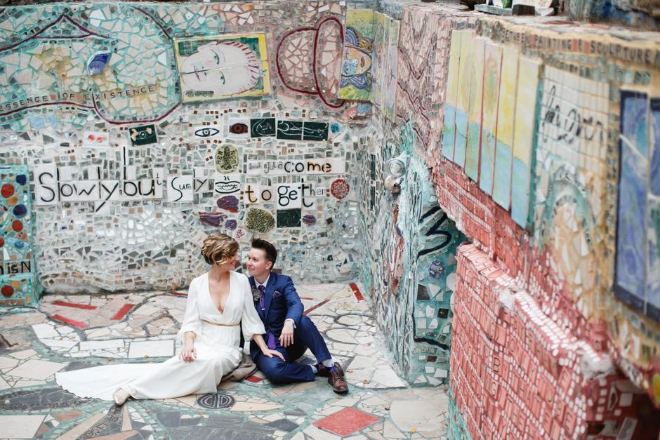 A Philadelphia Magic Gardens Wedding Catered By A Taco Truck Philadelphia Magazine