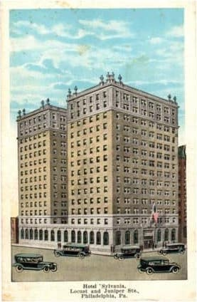 Sylvania Hotel postcard, 1920as