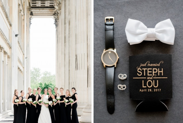This Classic Black & White Wedding is Also Classic Philadelphia